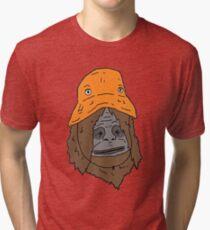 The orange hat monkey Tri-blend T-Shirt