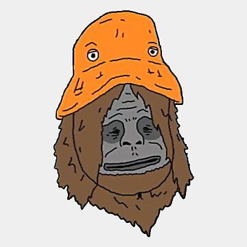 The orange hat monkey by bigoshow