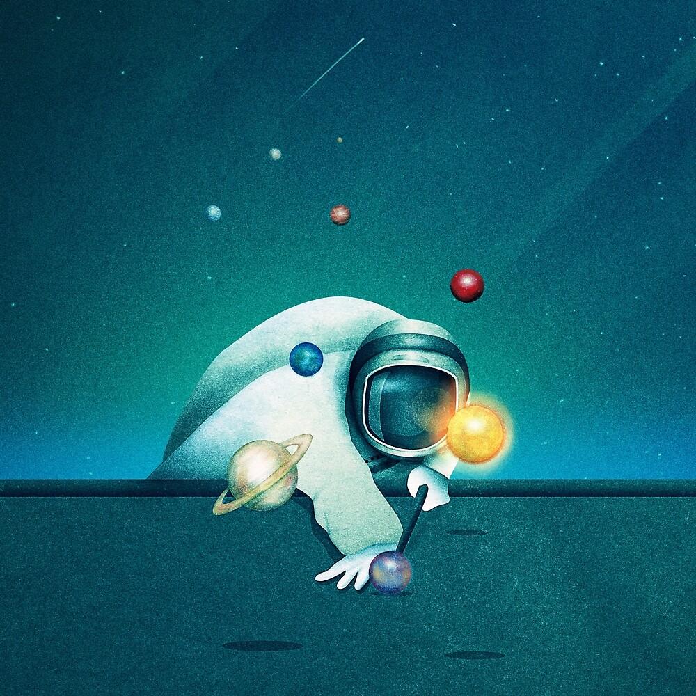 Astronaut Billards by schwebewesen
