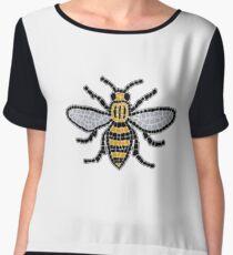 Manchester Bee Chiffon Top