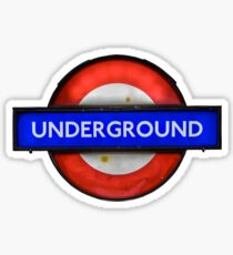 Isolated Grungy London Underground Sign Sticker