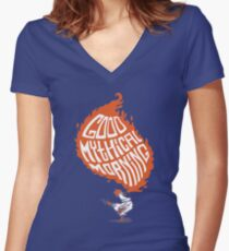 Mythical Morning Women's Fitted V-Neck T-Shirt