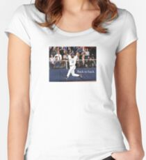 Toronto Blue Jays Back to Back Women's Fitted Scoop T-Shirt