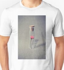 Pink flower in a glass flask T-Shirt