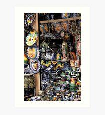 mexican handcrafts Art Print