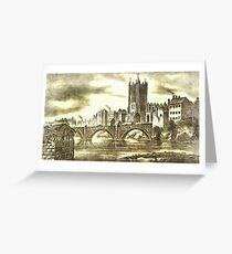 A View of Old Manchester in the 19th century (includes video) Greeting Card
