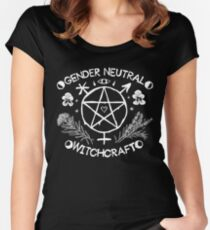 Gender Neutral Witchcraft (white) Women's Fitted Scoop T-Shirt