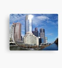 Soutbank from St Kilda Road Canvas Print