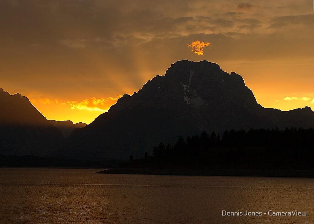 Sunset at Jackson Lake by Dennis Jones - CameraView