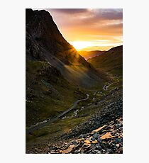 Honister Pass Sunset - The Lake District Photographic Print