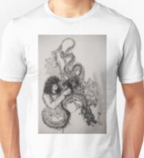 Zeppelin Classic Rock Page Black Dragon Guitar T-Shirt