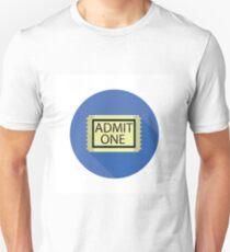 cinema ticket flat icon T-Shirt