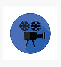 Movie projector flat icon Photographic Print