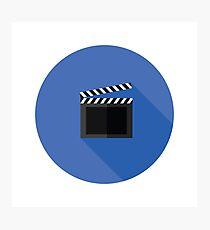 clipper board flat icon Photographic Print