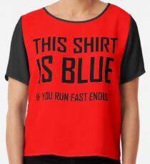Blusa Esta camisa es azul, si corres rápido Bastante - divertida broma de física