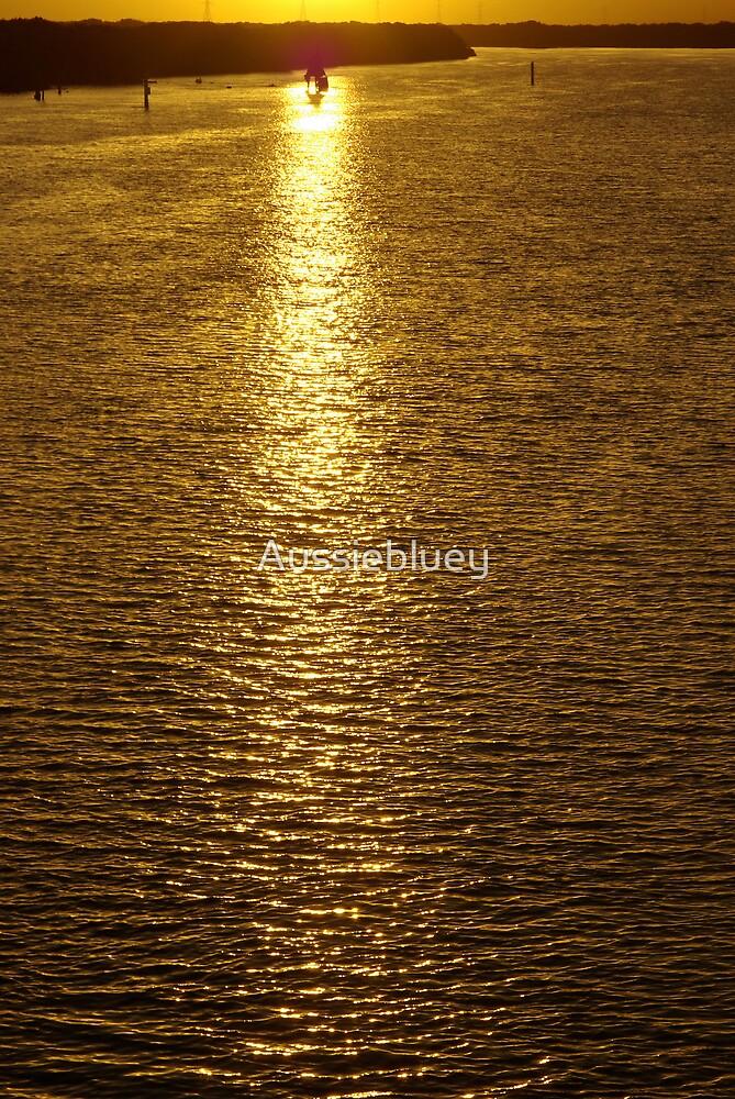 Golden Waters by Aussiebluey