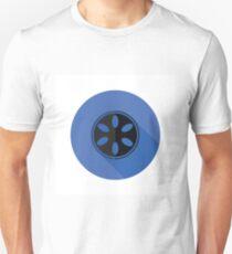 camera spool flat icon T-Shirt