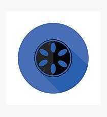 camera spool flat icon Photographic Print