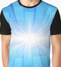 Abstract blue technology background with glow star Graphic T-Shirt