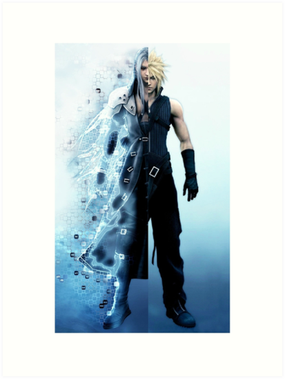 Final Fantasy VII - Sephiroth and Cloud by salodelyma