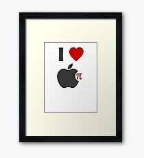 I Love Apple Pie Framed Print