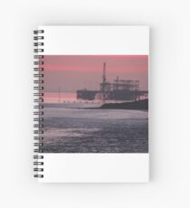 Red sky at night by alex Gowing Cumber  Spiral Notebook