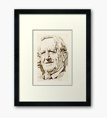 J. R. R. Tolkien in sepia Framed Print
