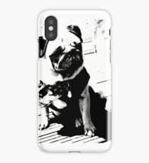 Worlds most famous pug by alex Gowing Cumber  iPhone Case/Skin