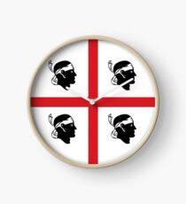 Flag of Sardinia Clock
