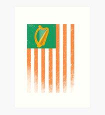 Irish American Flag Art Print