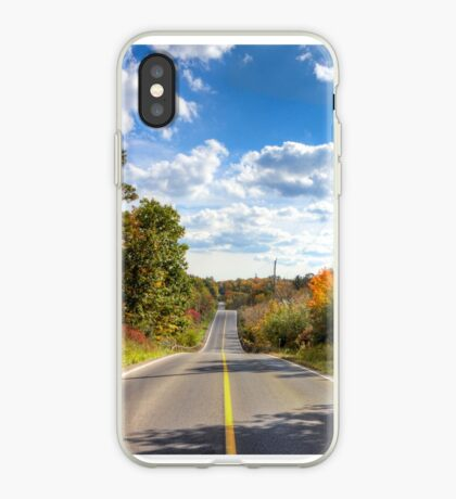 Autumn Road to Nowhere iPhone Case