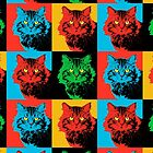 CAT POP ART  4 by NYWA-ART