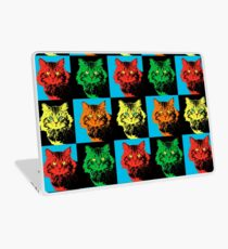 CAT POP ART  YELLOW RED GREEN Laptop Skin
