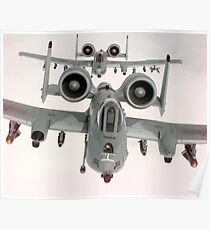 Two U.S. Air Force A-10A Warthogs in flight. Poster