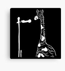 Menno de Giraf Wit Canvas Print