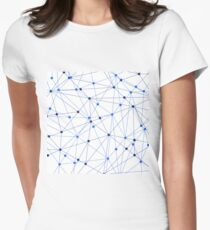 Network background. Connection concept.  Womens Fitted T-Shirt