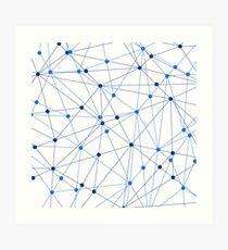 Network background. Connection concept.  Art Print