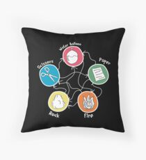 Rock Paper Scissors Friends special Throw Pillow