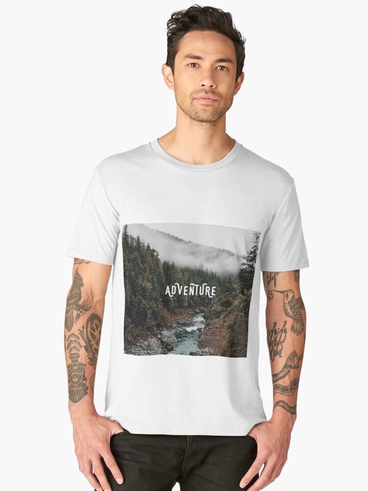 River in the Forest - Adventure Men's Premium T-Shirt Front