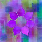 Violet Flower Power - Maps & Apps Series by Dana Roper