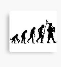 Evolution Pipebag Canvas Print