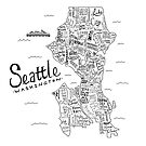 Seattle Map by Claire Lordon