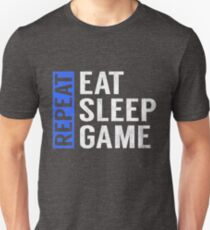 Eat Sleep Game Repeat Funny Gamer Gaming Gift T-Shirt