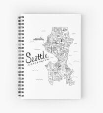 Seattle Map Spiral Notebook