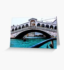 Rialto Bridge Venice December 2014 Greeting Card