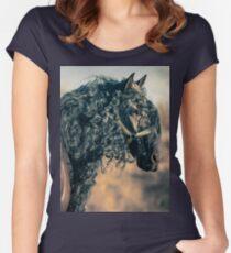 Aslan Friesian Horse I Women's Fitted Scoop T-Shirt