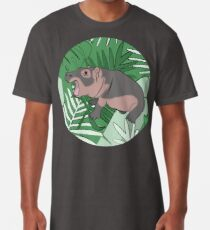 Fiona the Hippo Tropical Background Long T-Shirt
