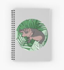 Fiona the Hippo Tropical Background Spiral Notebook