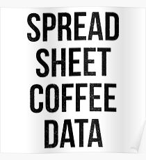 Spreadsheet Coffee Data Poster