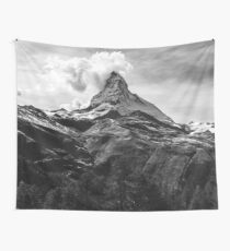 Black & White Mountains Wall Tapestry